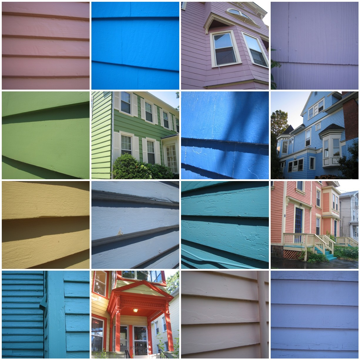 Mosaic of house colors