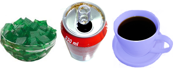 jello cola coffee rating scale