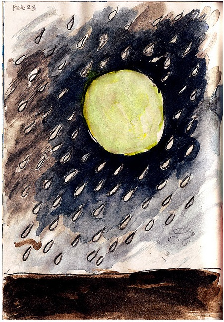 Galen Dara sketchbook Moon