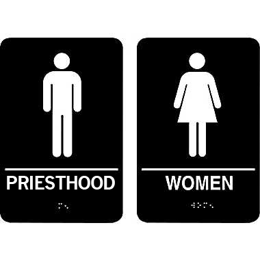 restroom priesthood sign