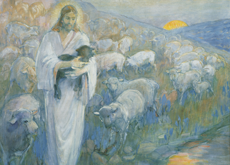 Christ and the lost lamb