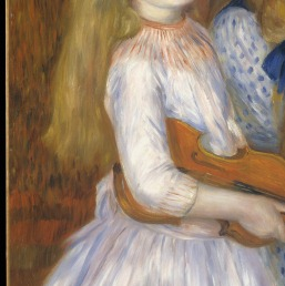 The Daughters of Catulle Mendès, Huguette (1871–1964), Claudine (1876–1937), and Helyonne (1879–1955) by Auguste Renoir Curtesy of MET