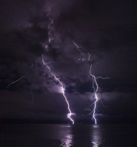 """Lightning on Columbus River"" by Ian Boggs"
